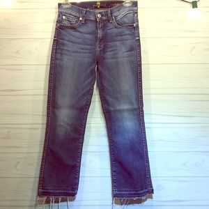 7 for All Mankind Bootcut Crop Jeans 25
